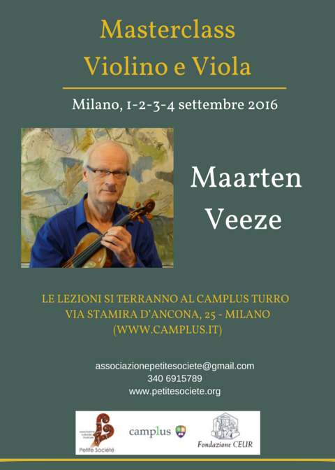 Masterclass violino viola Maarten Veeze 1